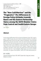 "prikaz prve stranice dokumenta The ""New Cold Warriors"" and the ""Pragmatics"": The Differences in Foreign Policy Attitudes towards Russia and the Eastern Partnership States among the NATO Member States from Central and South-Eastern Europe"