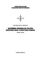 prikaz prve stranice dokumenta Suvremena regionalna politika Europske unije i strukturni fondovi