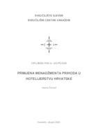 prikaz prve stranice dokumenta Primjena menadžmenta prihoda u hotelijerstvu Hrvatske