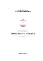 prikaz prve stranice dokumenta Obračun troškova proizvodnje