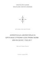 prikaz prve stranice dokumenta Akreditacija laboratorija za ispitivanje otpadnih voda prema normi HRN EN ISO/IEC 17025:2017