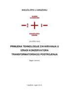 prikaz prve stranice dokumenta Primjena tehnologije zavarivanja u izradi konzervatora transformatorskog postrojenja