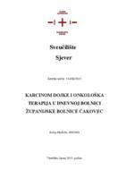 prikaz prve stranice dokumenta Karcinom dojke i onkološka terapija u dnevnoj bolnici Županijske bolnice Čakovec